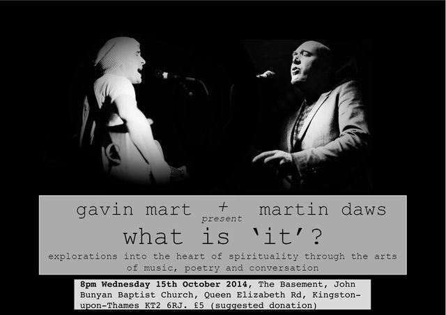 Gav & Martin gig flyer oct 15