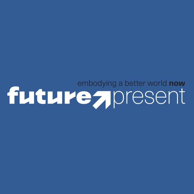Futurepresent logo linear blue